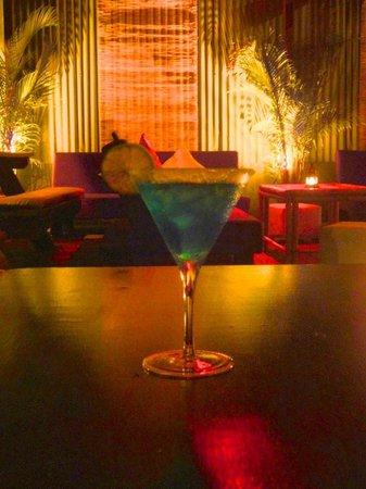 la Kasbah: blue margarita