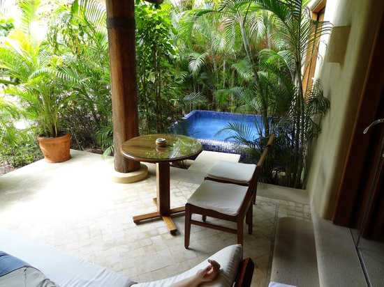 Villa del Sol Resort:                   our plunge pool