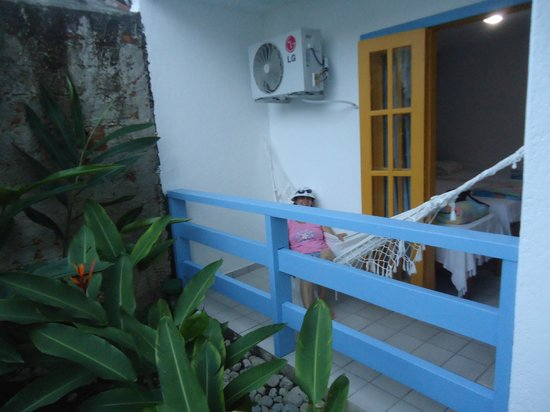 Hotel Estalagem:                   varanda do quarto que fiquei