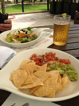 El Dorado Casitas Royale, by Karisma:                   Lunch beside the main pool.  Good pizza and guacamole.