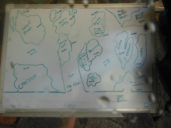 DiveSail Diving Pty Ltd:                                     Belle Mare - DiveSail Mauritius - plan of diving areas