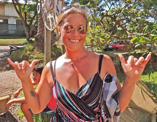 Aloha Nui:                   Josie in Front Yard during Tapati Rapa Nui 2013