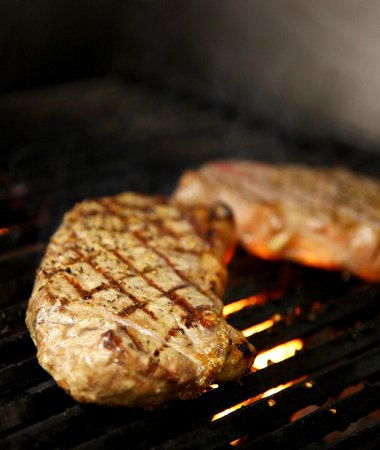 Plank Road Steak House: On the grill