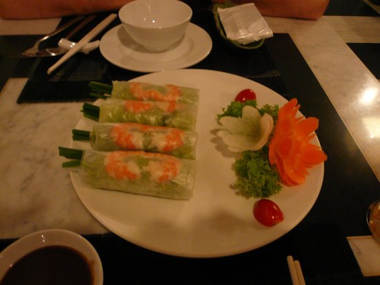 Time Restaurant:                   Healthy spring rolls