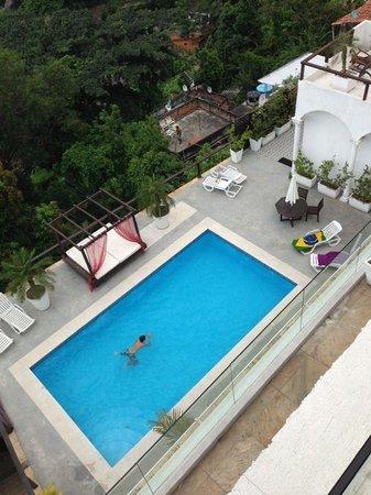 The Villa:                   the pool area