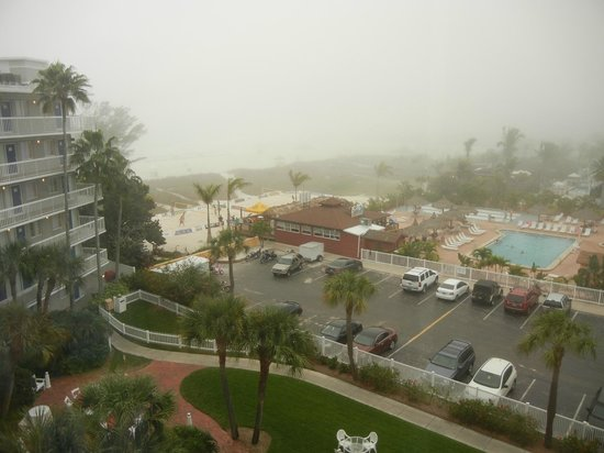 Guy Harvey Outpost, a TradeWinds Beach Resort:                   Toasted Monkey bar, and marine fog, you can see how close those rooms on the e