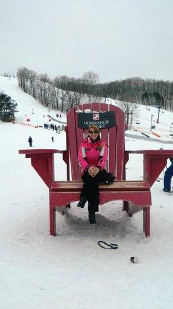 Horseshoe Resort:                   Posing on the hills