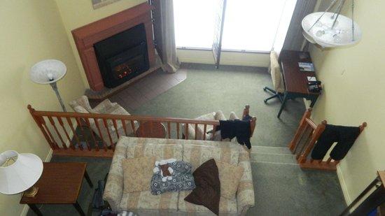 Horseshoe Resort:                   View of room from upstairs