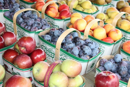 Crown Ridge Bed & Breakfast: Local produce