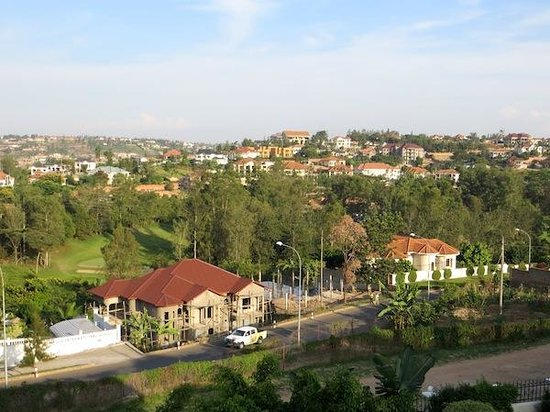 Golf Hills Residence:                   A view across the upmarket suburbs of Kigali, from the terrace of my Golf Hill