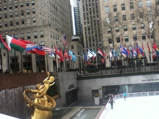 The Dr. Oz Show:                                     Lots of time to take pics in the Rockafeller Center
