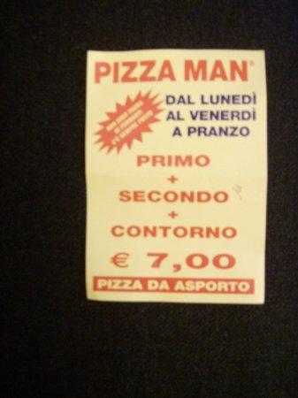 Pizza Man - Via Carlo del Prete: volantino