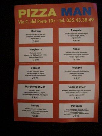Pizza Man - Via Carlo del Prete: prezzi pizze