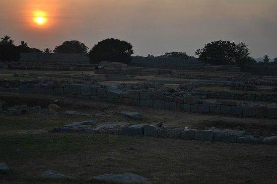 Vijayanagar:                   Sunset