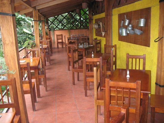Restaurante Corvel:                   upstairs overlooking the garden