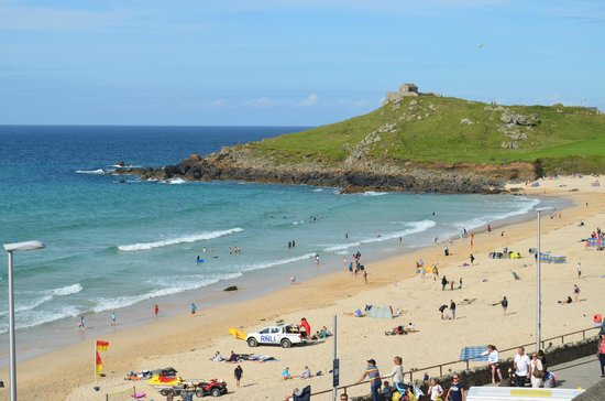 Channings: Porthmeor beach and the Island