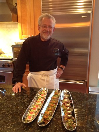 green ROCKS inn: Our Executive Chef, Michael - magnifique!
