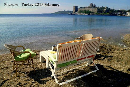 Bodrum, Turquía:                                     beach