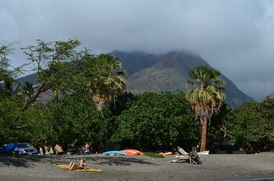 Camp Olowalu:                   beach and mountain views                 