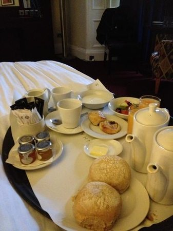 The Bonham:                   breakfast in bed