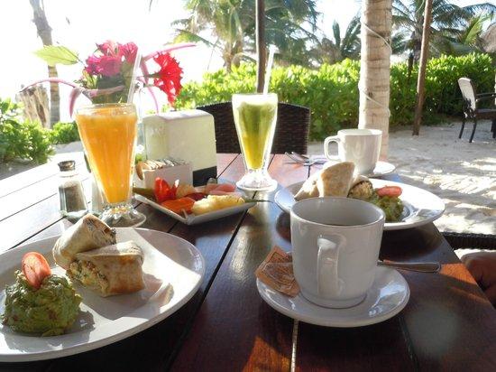 Cabanas Tulum:                   Last breakfast