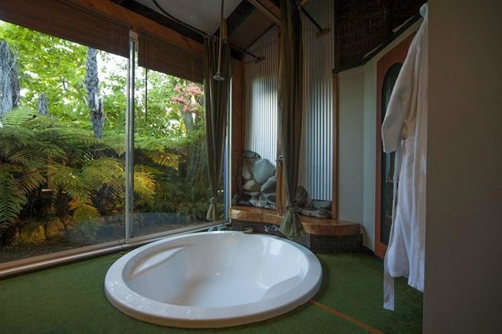 The Blue Moon B & B: Bathroom with a view