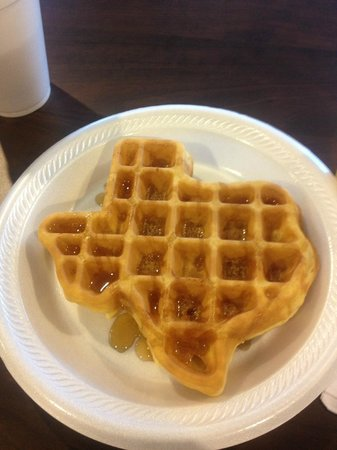 Microtel Inn & Suites by Wyndham Round Rock:                   Texas shaped waffles!