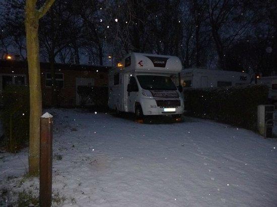 Camping Indigo Paris Bois de Boulogne:                   Nuestra Parcela!!!
