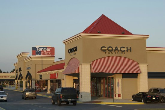The Tanger Outlet - Locust Grove is one of the popular outlet malls in Georgia with more than 71 stores. The outlet center you can visit at: Tanger Drive, Locust Grove, GA