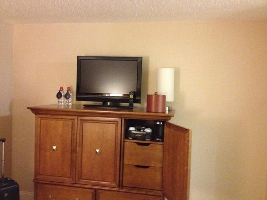 Hilton Tampa Downtown:                   TV area