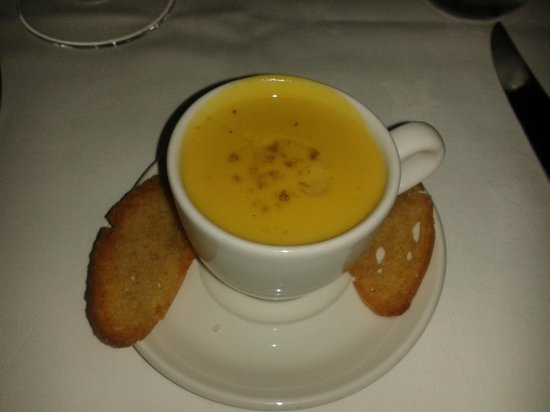 The Old Convent:                   Sweet Potato and Bantam Egg Veloute (What is Bantam, sounds like something out