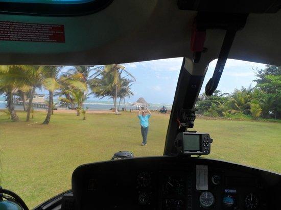 Coral Lodge:                   Salida helicoptero