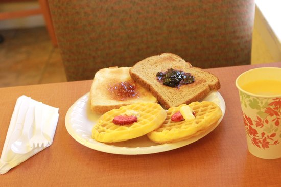 Super 8 San Francisco/Union Square Area: Waffles, breads, cereals, etc are all included with your stay