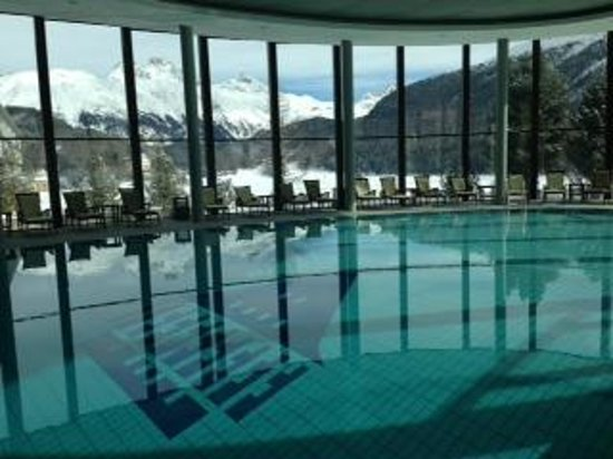 Badrutt's Palace Hotel: View from the pool at The Spa