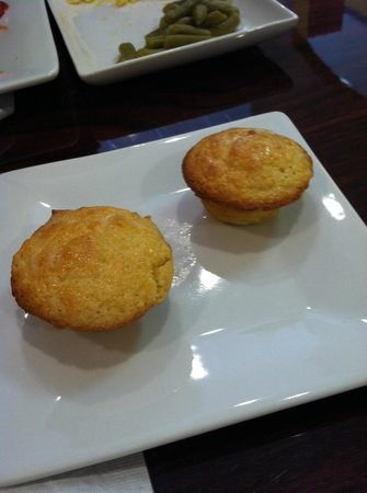 JT's Kitchen:                   Hot corn muffins, with melted butter on top, were just the right size