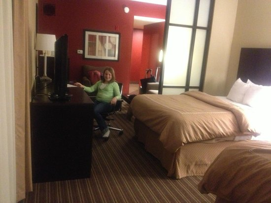 Comfort Suites West of the Ashley:                   Roomy suite