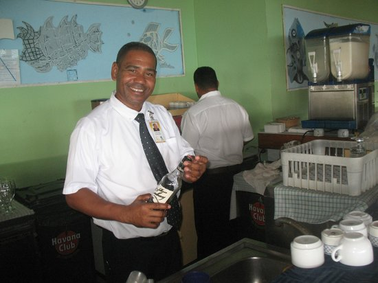 Iberostar Playa Blanca:                                     Daniel - bartender at the Ranchon!