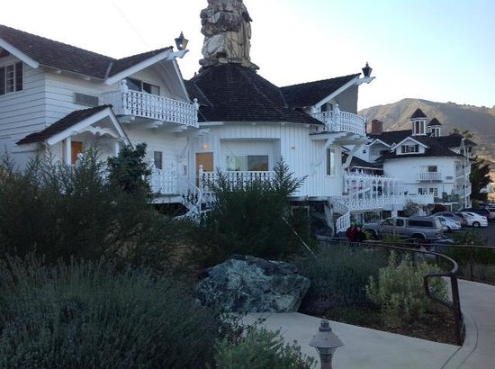 Madonna Inn:                                     Main view of rear building