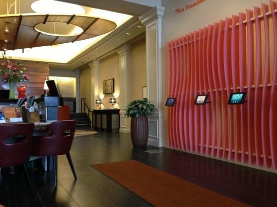 Hotel Abri:                   lobby with wifi and iPads