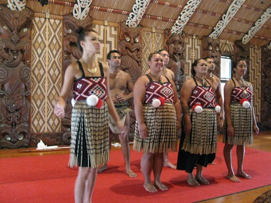 Waitangi Treaty Grounds:                                     On stage - no movies can be taken - only still photos