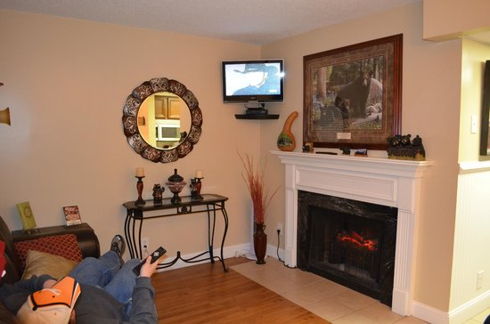 Oak Square at Gatlinburg:                   Great living room!!