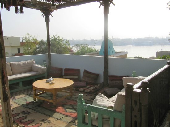 Villa Nile House:                   Views of the Nile from roof terrace