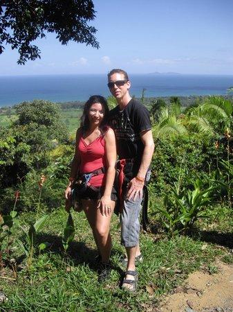 Telamar Resort :                                     Vue de la mer dans la jungle pour faire de la tyrolienne