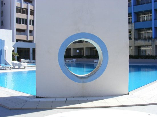 The St. George's Park Hotel:                   pool area before painting