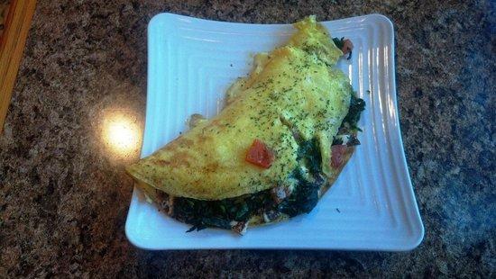 Panita Bakery:                   Spinach omlette