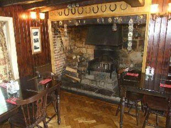 Three Cups Inn:                   Fireplace
