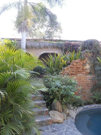 Todos Santos Inn:                   Hotel grounds