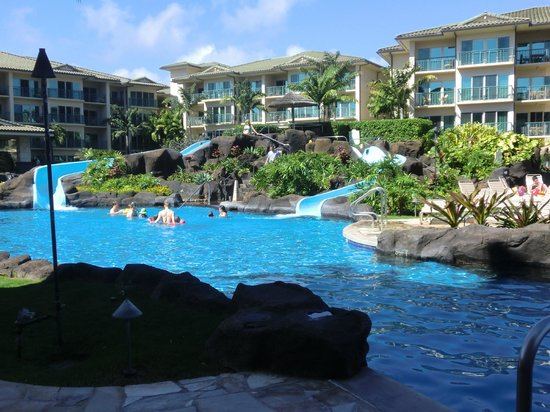 Waipouli Beach Resort:                   The slides are fun for the whole family