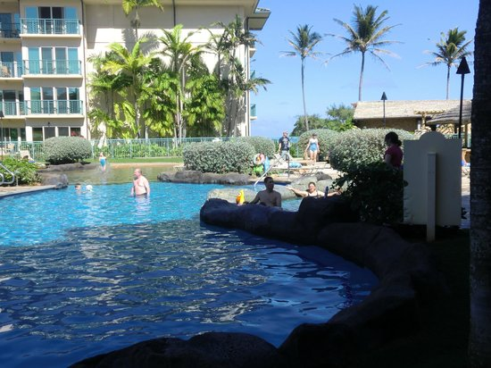 Waipouli Beach Resort:                   Lots of room to splash in
