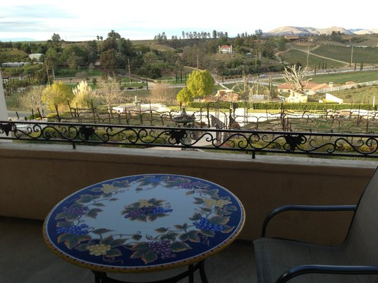 Inn at Churon Winery: View from the Balcony